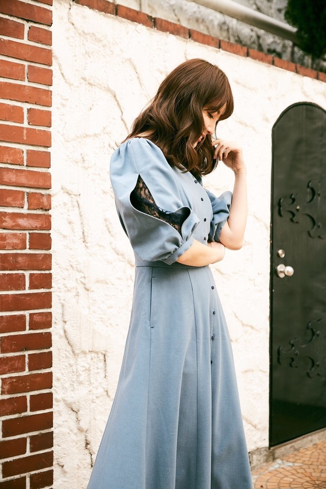 Inner Lace Sleeve One-Piece