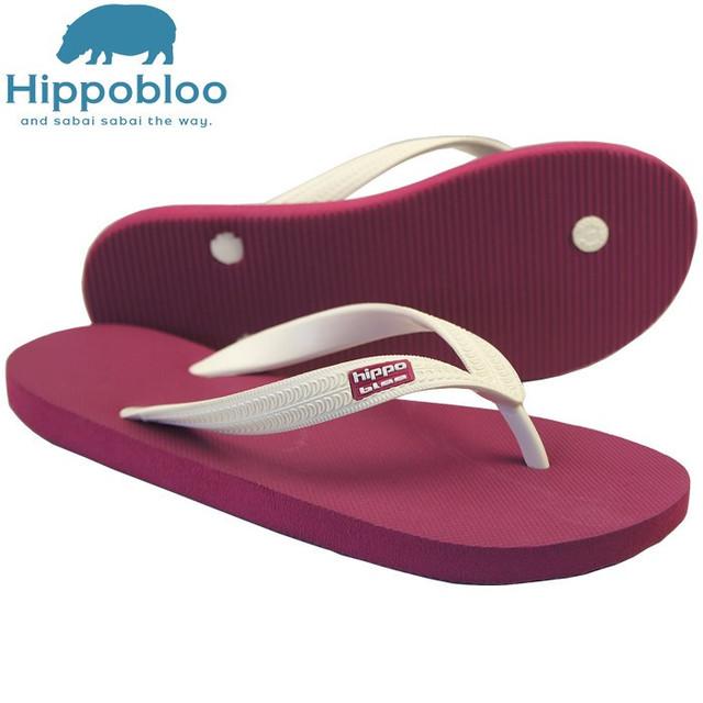 【Hippo Bloo】ビーチサンダル(ライトブルー/ブラウン)