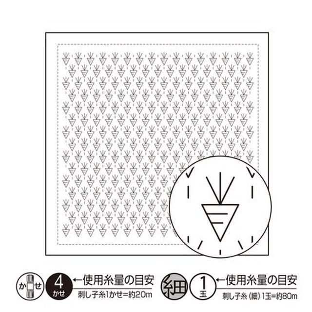 オリムパス 一目刺し花ふきん:H-1092 ニンジン(白)