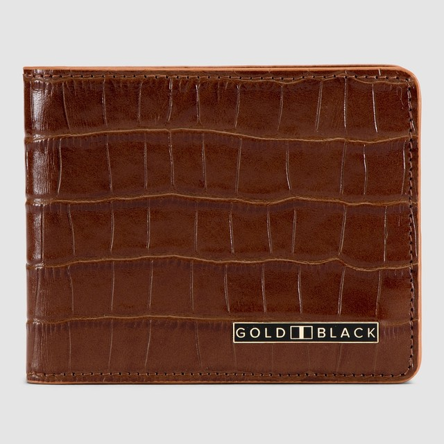 ゴールドブラック(GOLDBLACK) GM WALLET CROCO BROWN