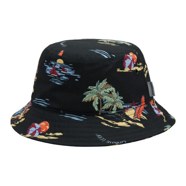 CARHARTT WIP BEACH BUCKET HAT - Beach Print Black