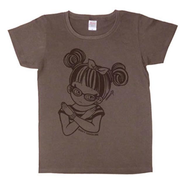 """ミカヅキ/""""さわるな女子"""" T-Shirts WLサイズ [ T-007:Charcoal Gray ]"""