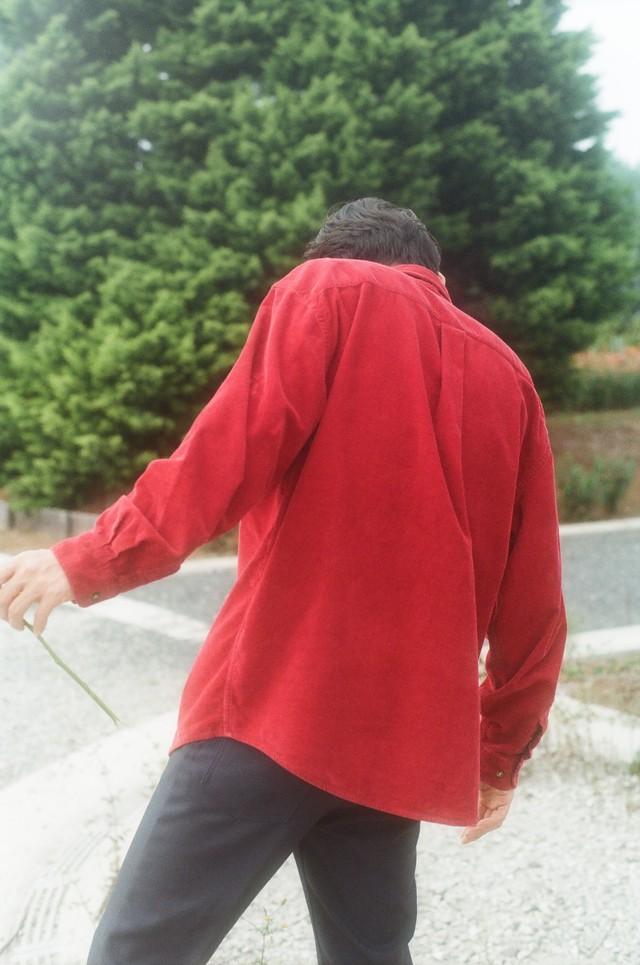 red corduroy shirts