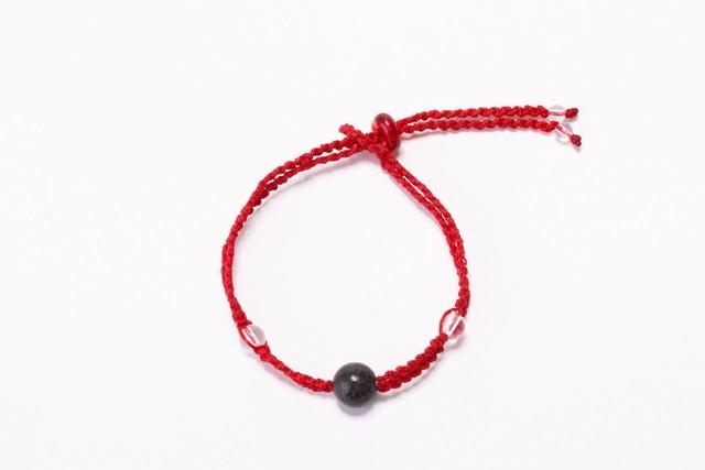 富士山溶岩ブレスレット[Lava Bracelet]〜 レッド 〜