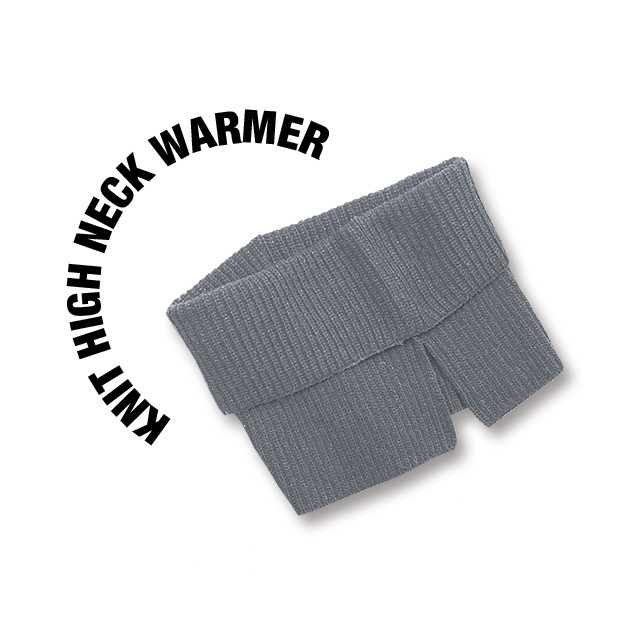 Knit high neck warmer [Gray]