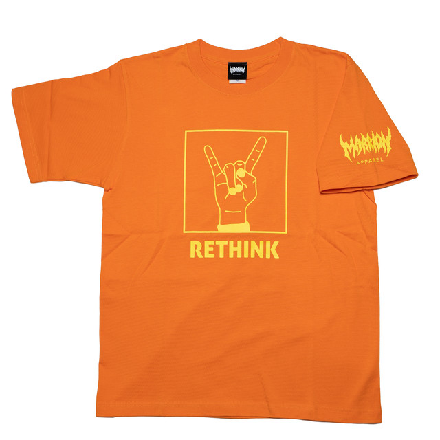 RETHINK T-shirts (Orange×LemonYellow)