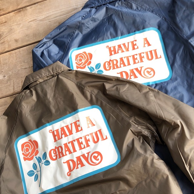 """GOWEST """"Have a Grateful Day"""" Coach Jacket"""