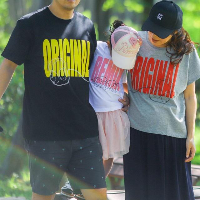 【ORIGINAL&REMIXヘッドフォン】ママとパパとキッズの親子リンクコーデTシャツ