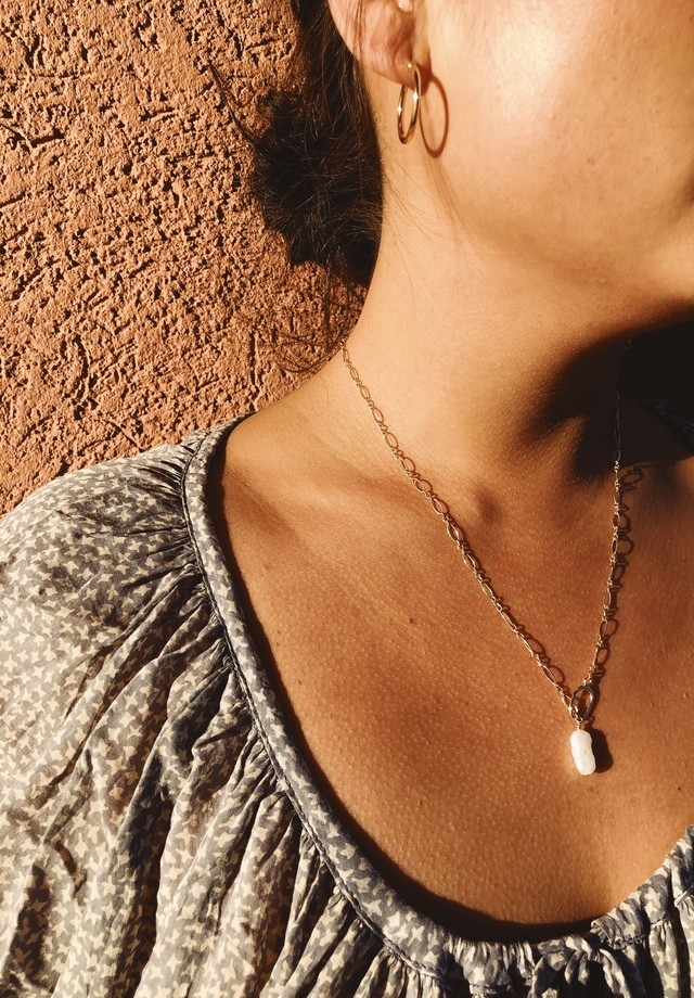 New Mantel Perl  Necklace ニューマンテルパールネックレス