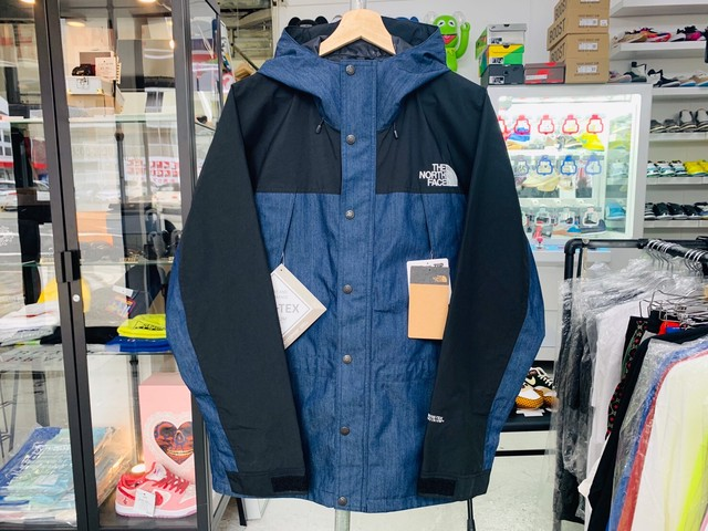 THE NORTH FACE NP12032 MOUNTAIN LIGHT JACKET INDIGO DENIM LARGE 270JH8315