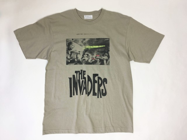 2-212-922  THE INVADERS  TEE [[BEIGEGRAY X GRAY] size:L