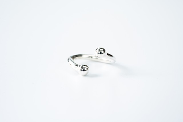 R-059 Double ball Twist ring