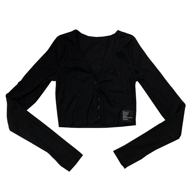 Cropped Rib Knit Tops