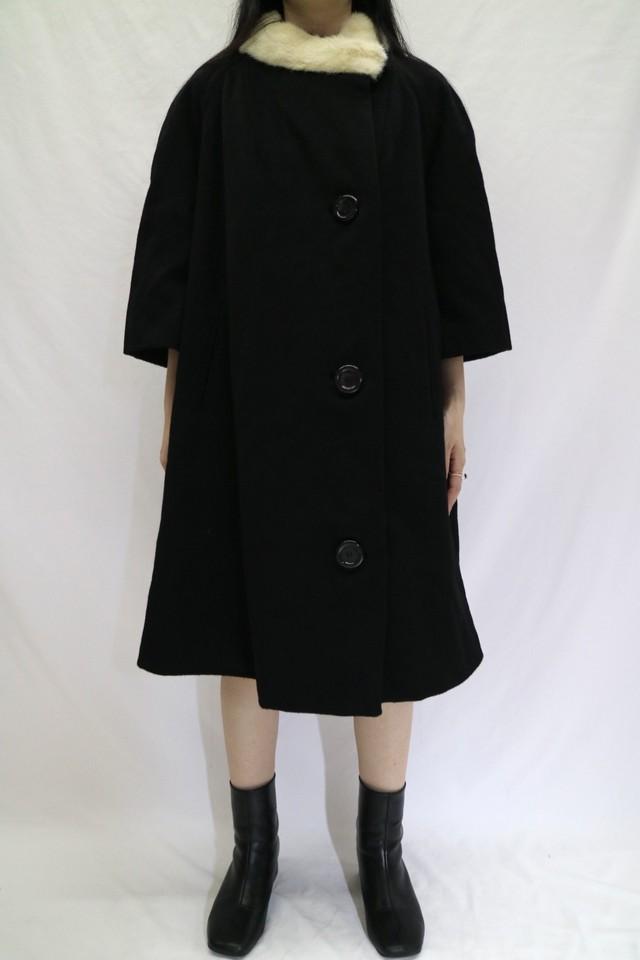 ~60s fur collar flare coat【0355】