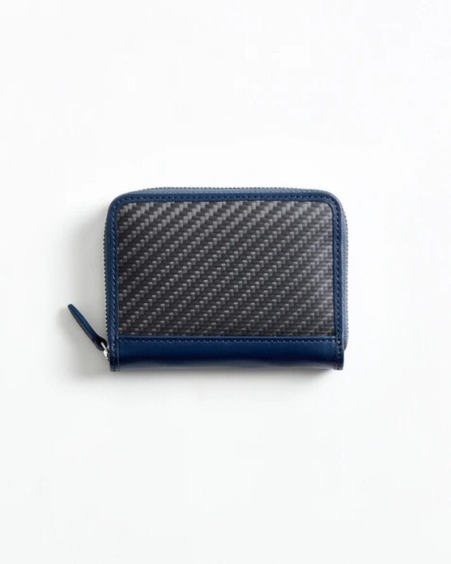 【hide k 1896】mini round zip wallet