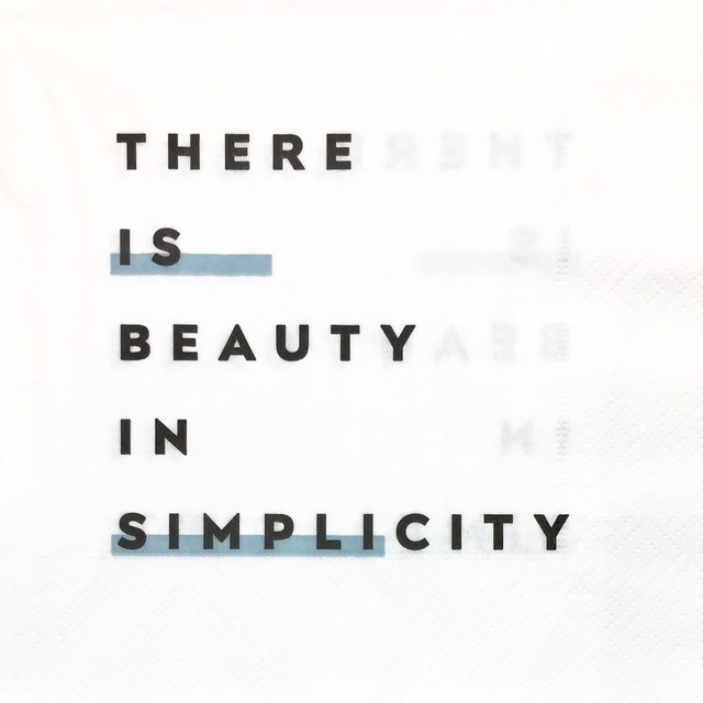 【H&M HOME】バラ売り2枚 ランチサイズ ペーパーナプキン THERE IS BEAUTY IN SIMPLICITY ホワイト