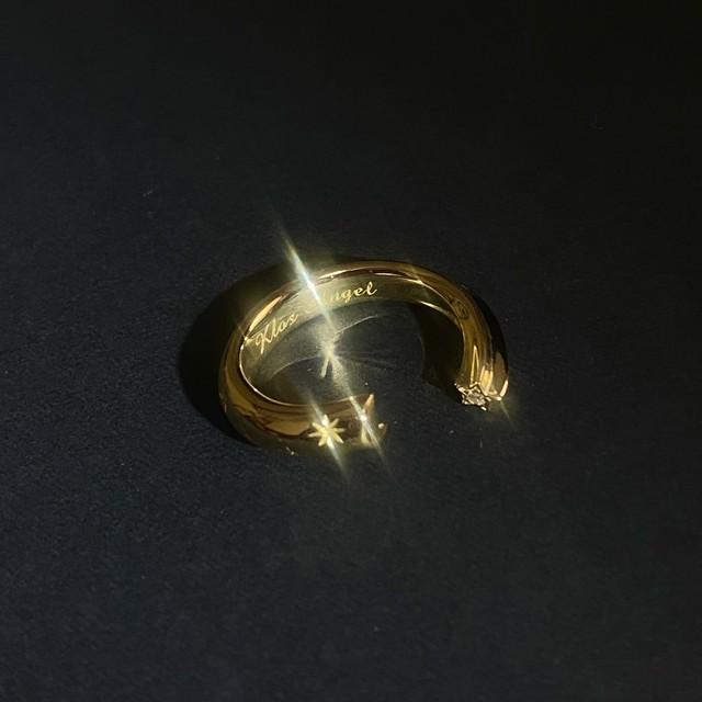 K18 Moon&Stars Ring