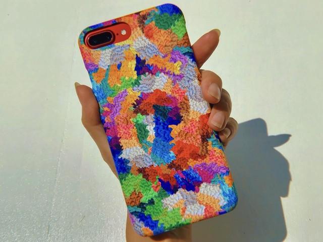 Back stitch Smartphone case