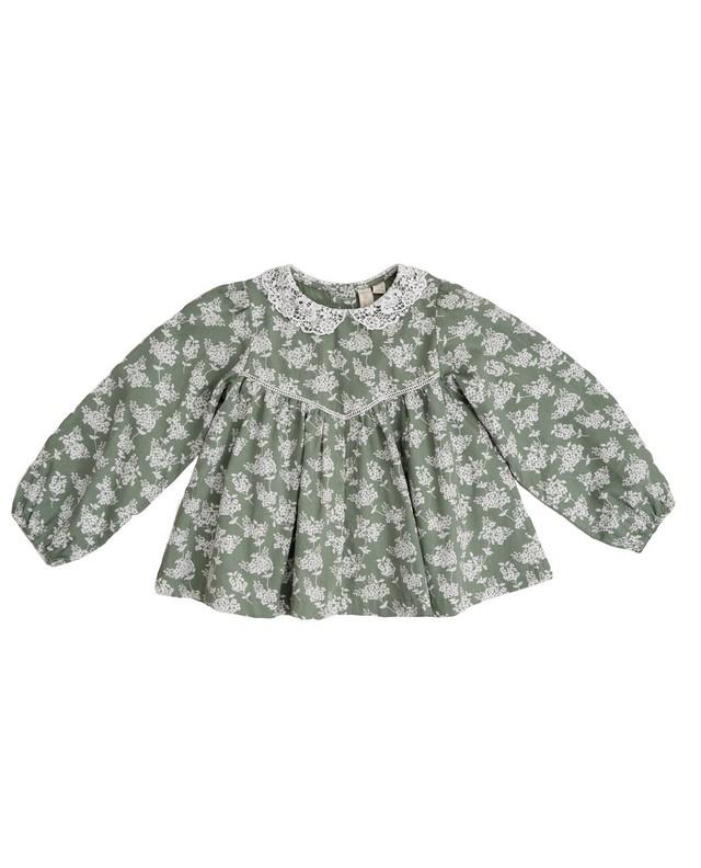 Little cotton clothes/Marcie blouse – Hydrangea floral