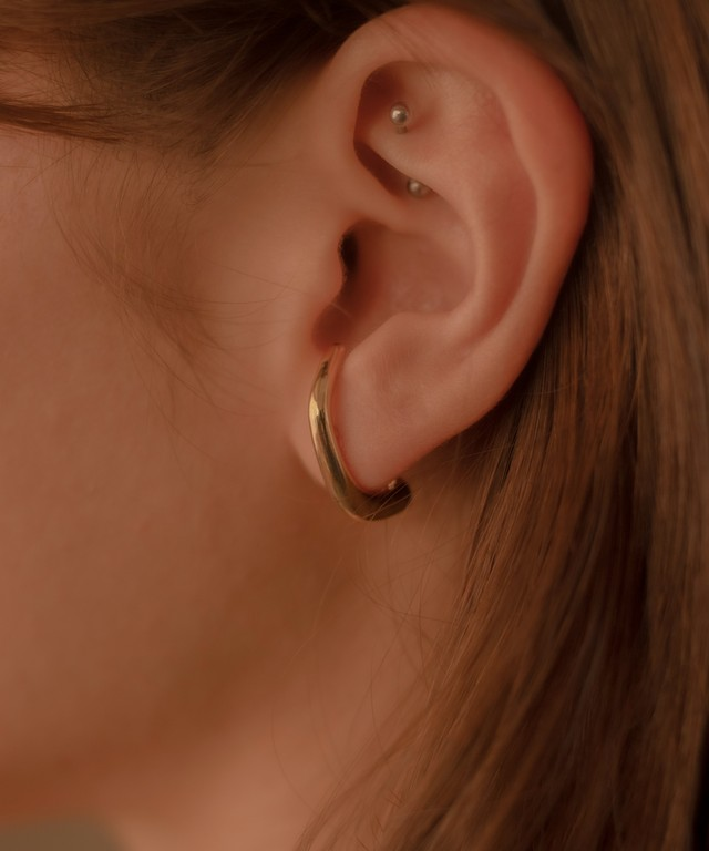 Ear Cuff Style Design Hoop Pierce