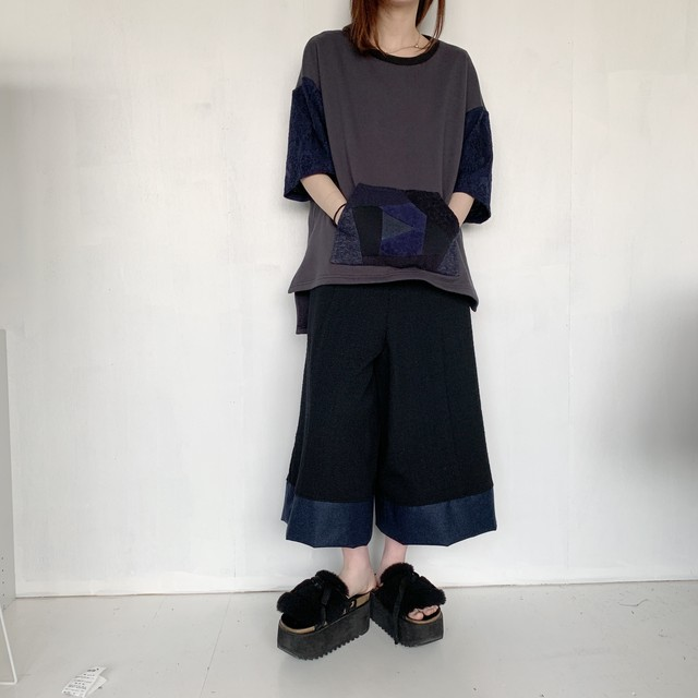 Slit-T-shirts PW (dark grey)