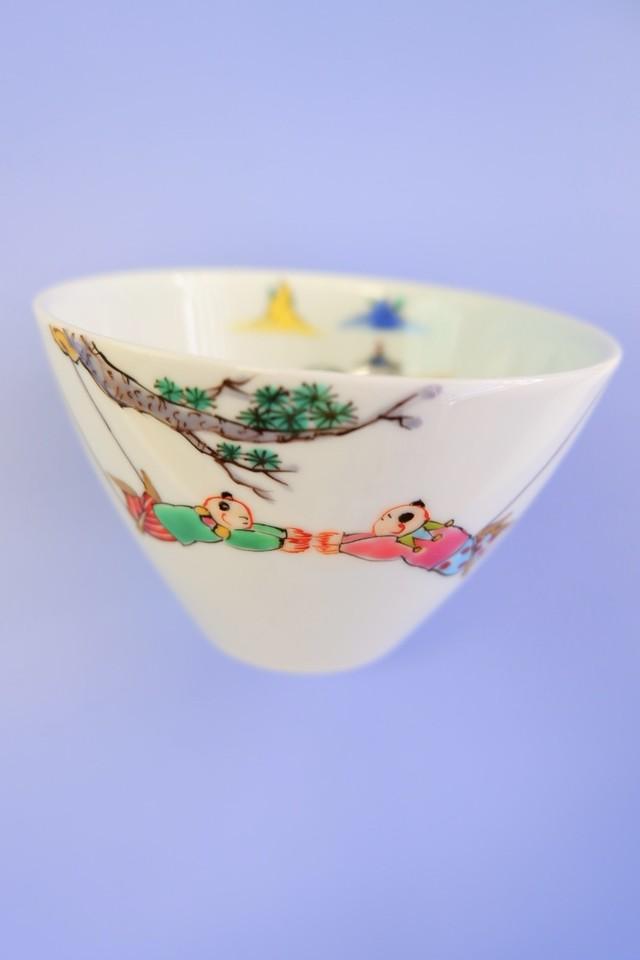 山水に空中ブランコ唐子 / free bowl