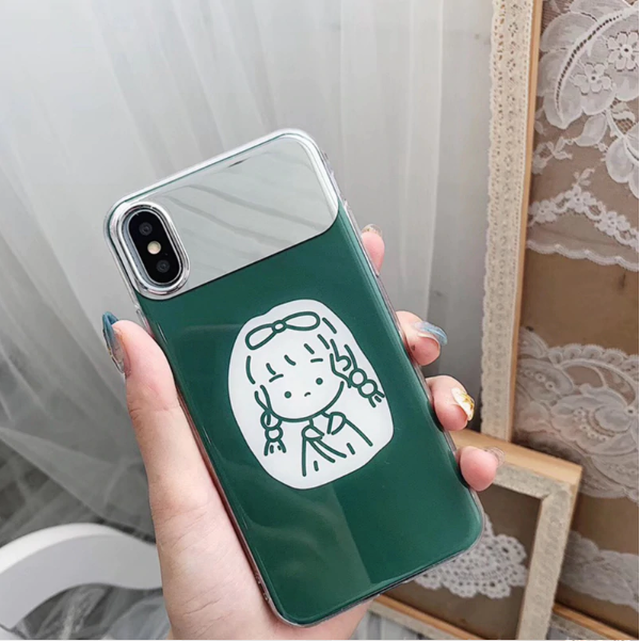 【オーダー商品】Green girl mirror iphone case