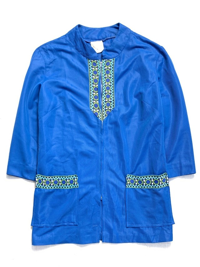 EMBROIDERY ZIP UP SHIRT