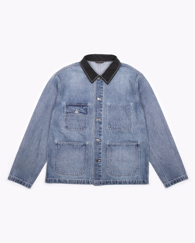 MAIDEN NOIR CHORE JACKET - LIGHT INDIGO
