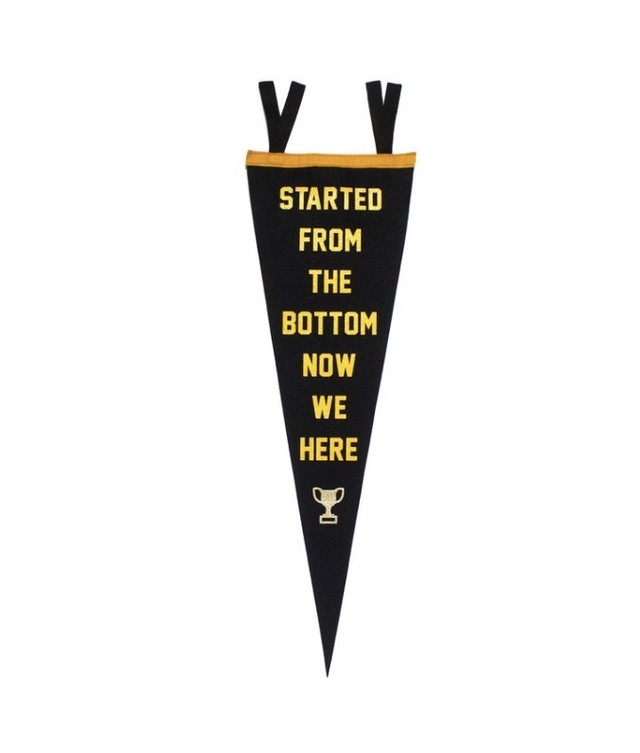 STARTED FROM THE BOTTOM DRAKE Pennant