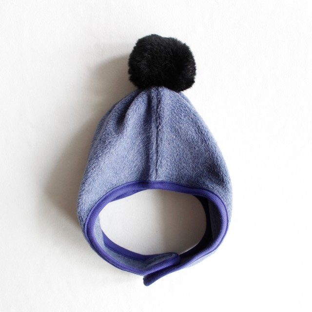 《chocolatesoup》FLEECE POMPOM BONNET / blue