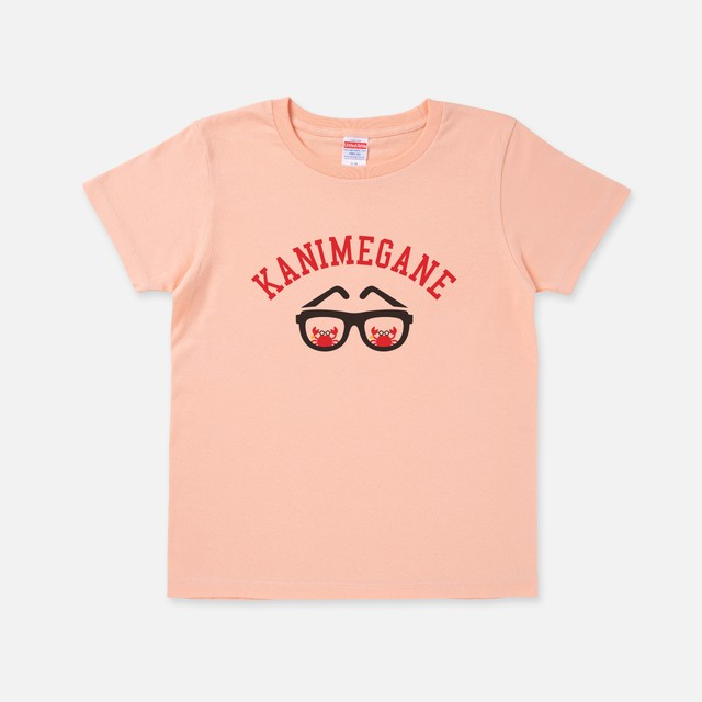 Tシャツ[カニメガネ]カニブラザーズ アプリコット色