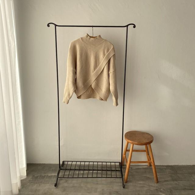 half neck wrap knit【2012-9】