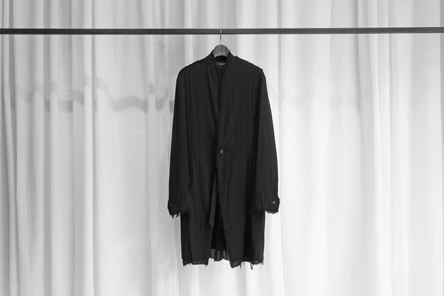 ASKYY / LAYERED LONG JACKET / BLK×BLK