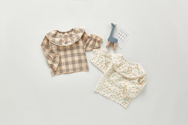 【お取り寄せ】66-100 丸襟ブラウス 春 秋 冬 女の子 赤ちゃん 子供