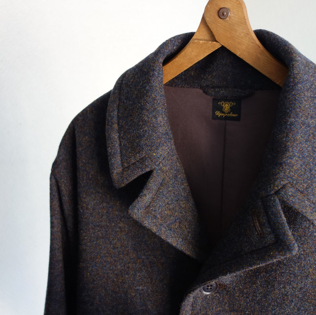 classic artisanal woolcoat / navy( x brown)