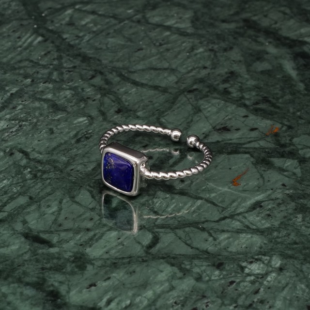 SINGLE MINI STONE RING SILVER 022