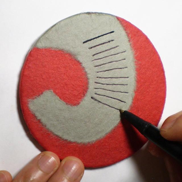 和紙で作る【キリンさんのコースター】キット