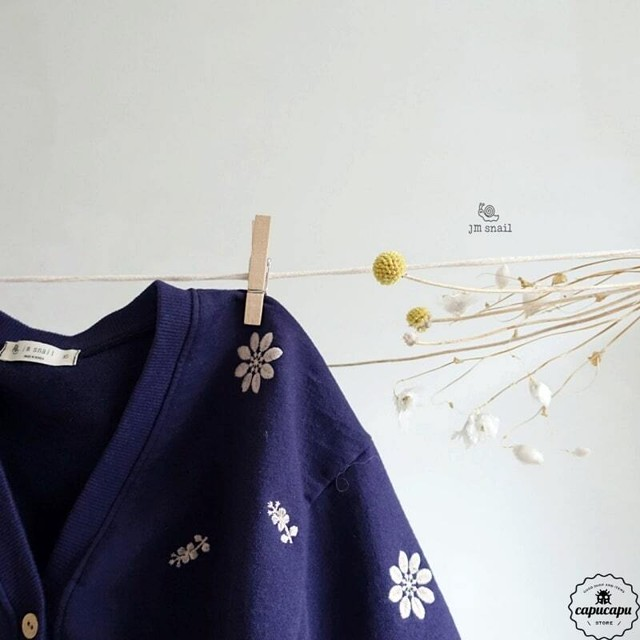 «sold out» flower cardigan フラワーカーディガン