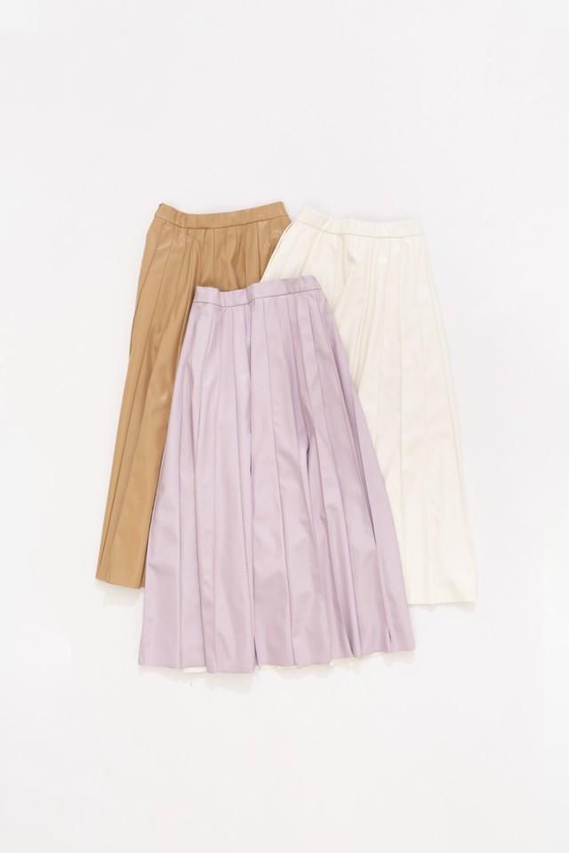 eco leather darts skirt