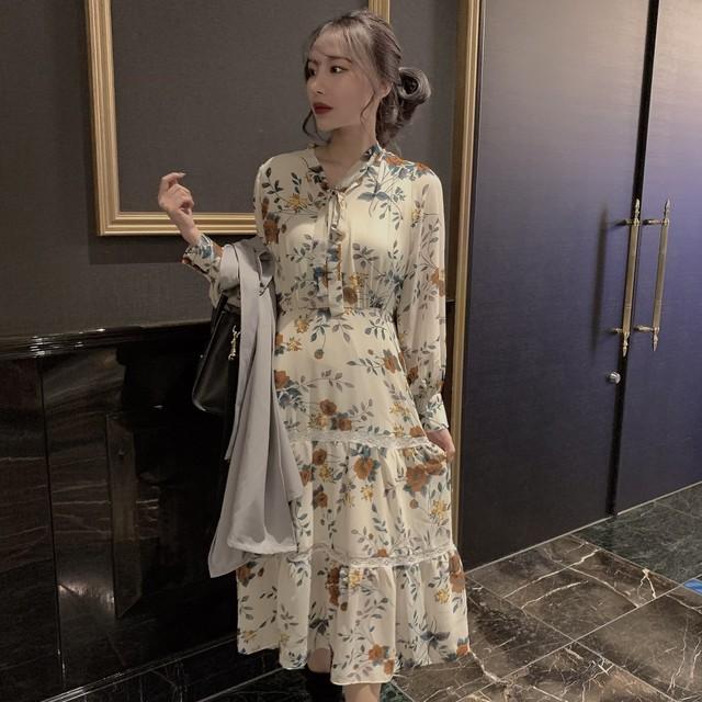 ୨୧ vintage long dress 2color