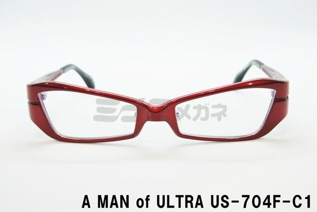 【正規取扱店】A MAN of ULTRA×BLACK ICE US-703F-C2 ウルトラセブンメガネ、円谷プロ、眼鏡、フレーム、 アイスラッガー、コラボ、変身、ブルーライトカット、限定商品