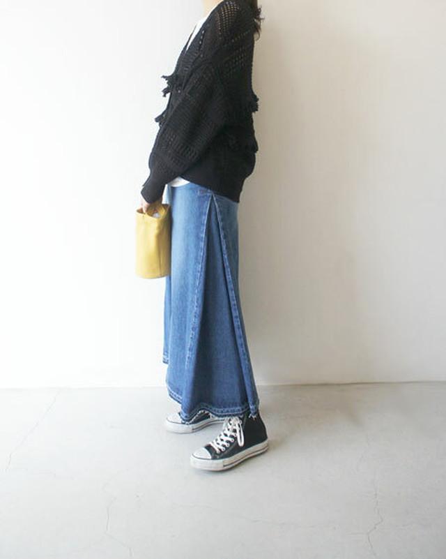 12oz denim maxi skirt / Munich
