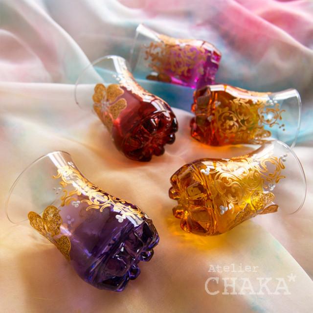 チャイグラス/アーモンドの花&アラベスク