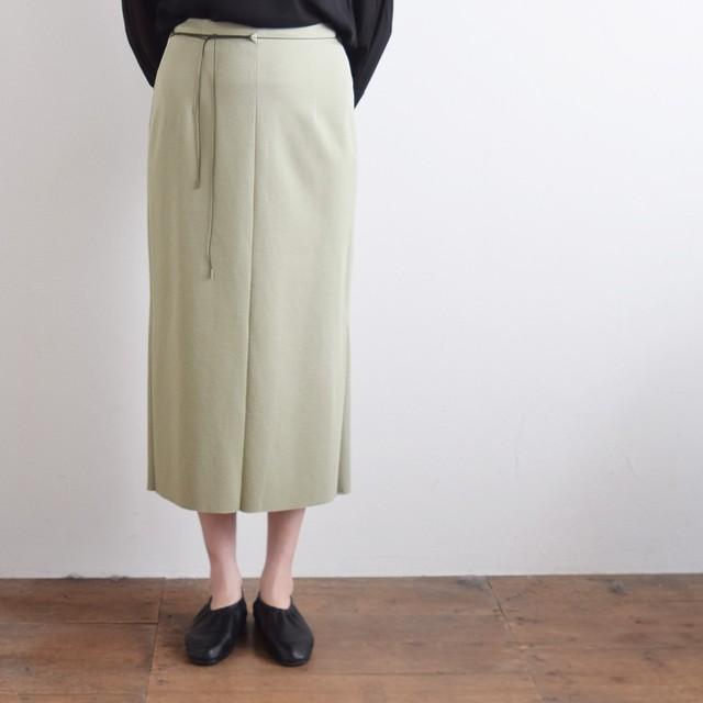 【the Sale!  50%off 】 jens イェンス ツイルスムース サイドスリットスカート khaki