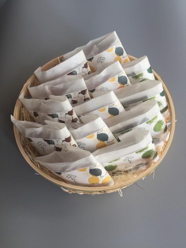 竹かご入り 果子ケーキ6個 詰め合わせ
