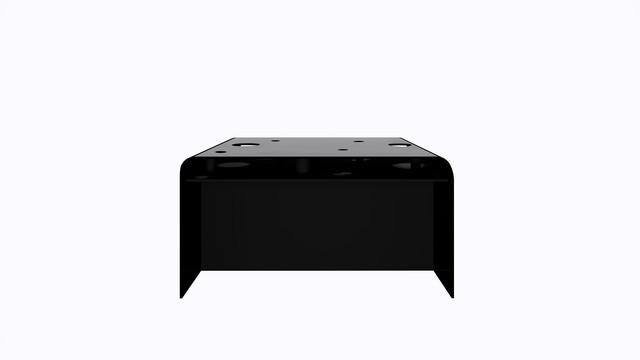 ターブル・ペルフォレ (黒) - Table Perforée (Black)-Width 1400mm