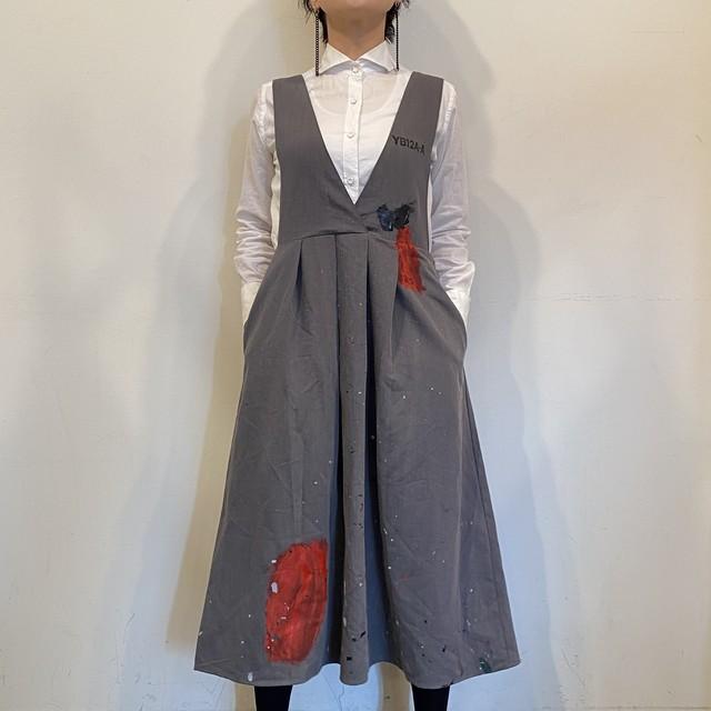 Armo[u]r グレーのサロペットスカート