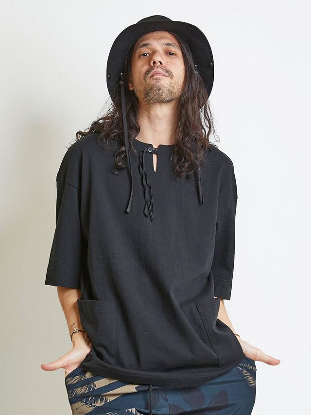 EGO TRIPPING (エゴトリッピング) STRING GARDEN TEE ストリングガーデンTシャツ / BLACK 663850-05