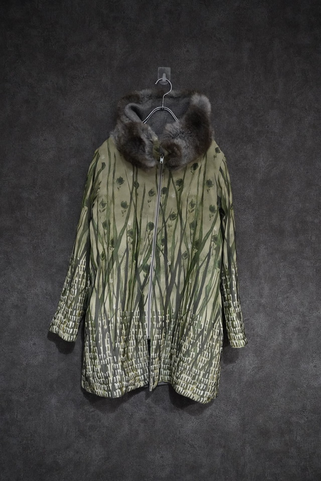 【2021緊急 SALE】 SHIKI wool ×fake fur  reversible coat